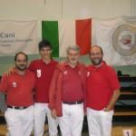 Turno domenica pomeriggio: Damiano, Nicolò, Ermanno Direttore dei Tiri e Massimo